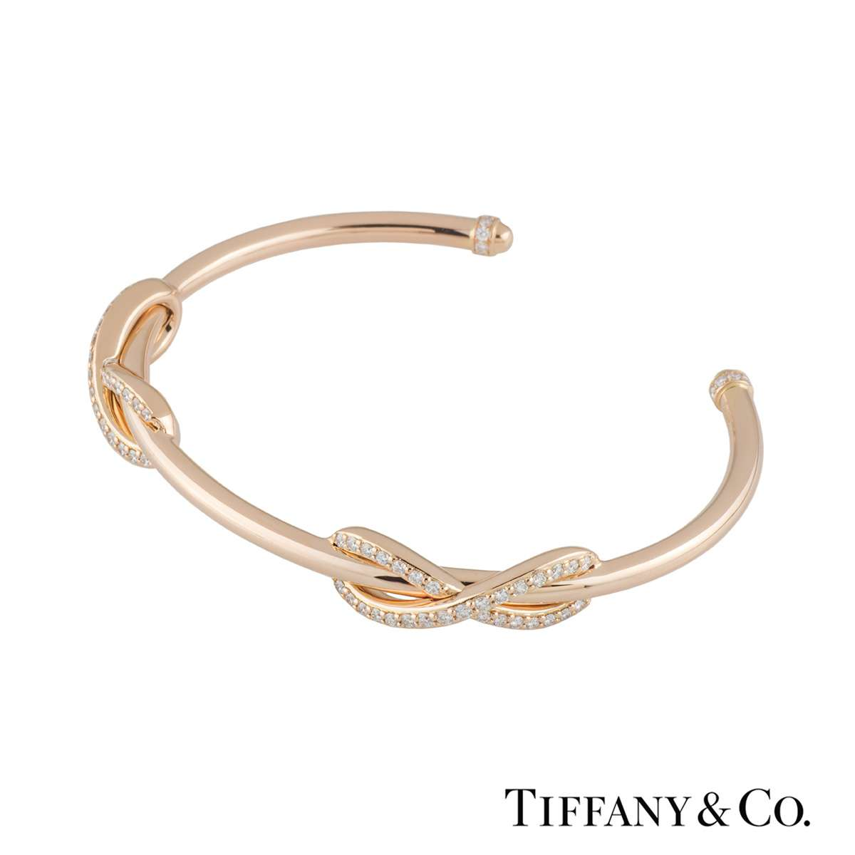 bc68694cf Rose Gold Diamond Double Infinity Cuff Bangle · Tiffany & Co. Rose Gold  Diamond Double Infinity Cuff Bangle ...